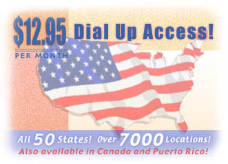 $12.95 Dial Up Access